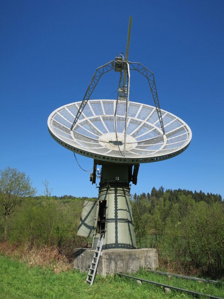 Radio telescope in Bleien, Switzerland