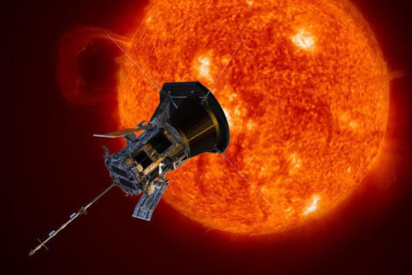 Künstlerische Darstellung der Parker Solar Probe. Die Sonde wird der Sonne näher kommen als jede zuvor. Bild: NASA/Johns Hopkins APL/Steve Gribben