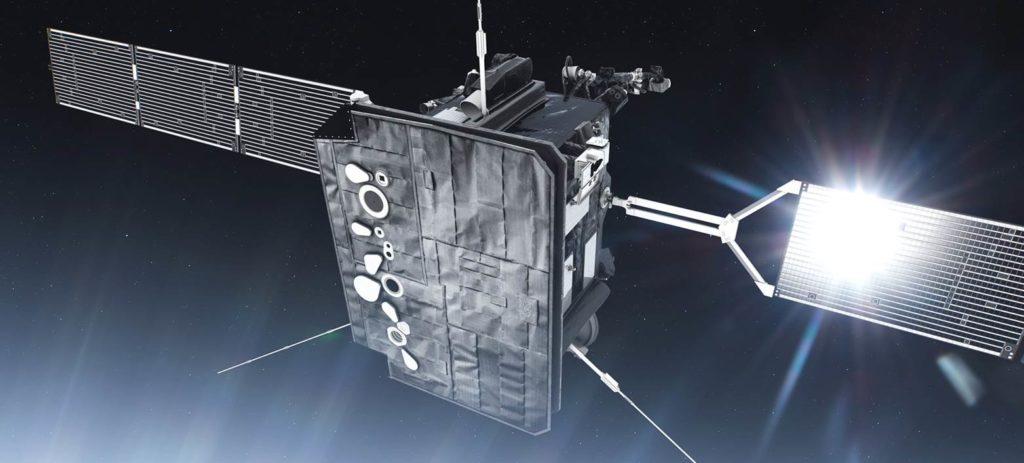 Im Hitzeschild von Solar Orbiter gibt es kleine Öffnungen, durch die die Sonne beobachtet werden kann. Bild: ESA/ENBIO