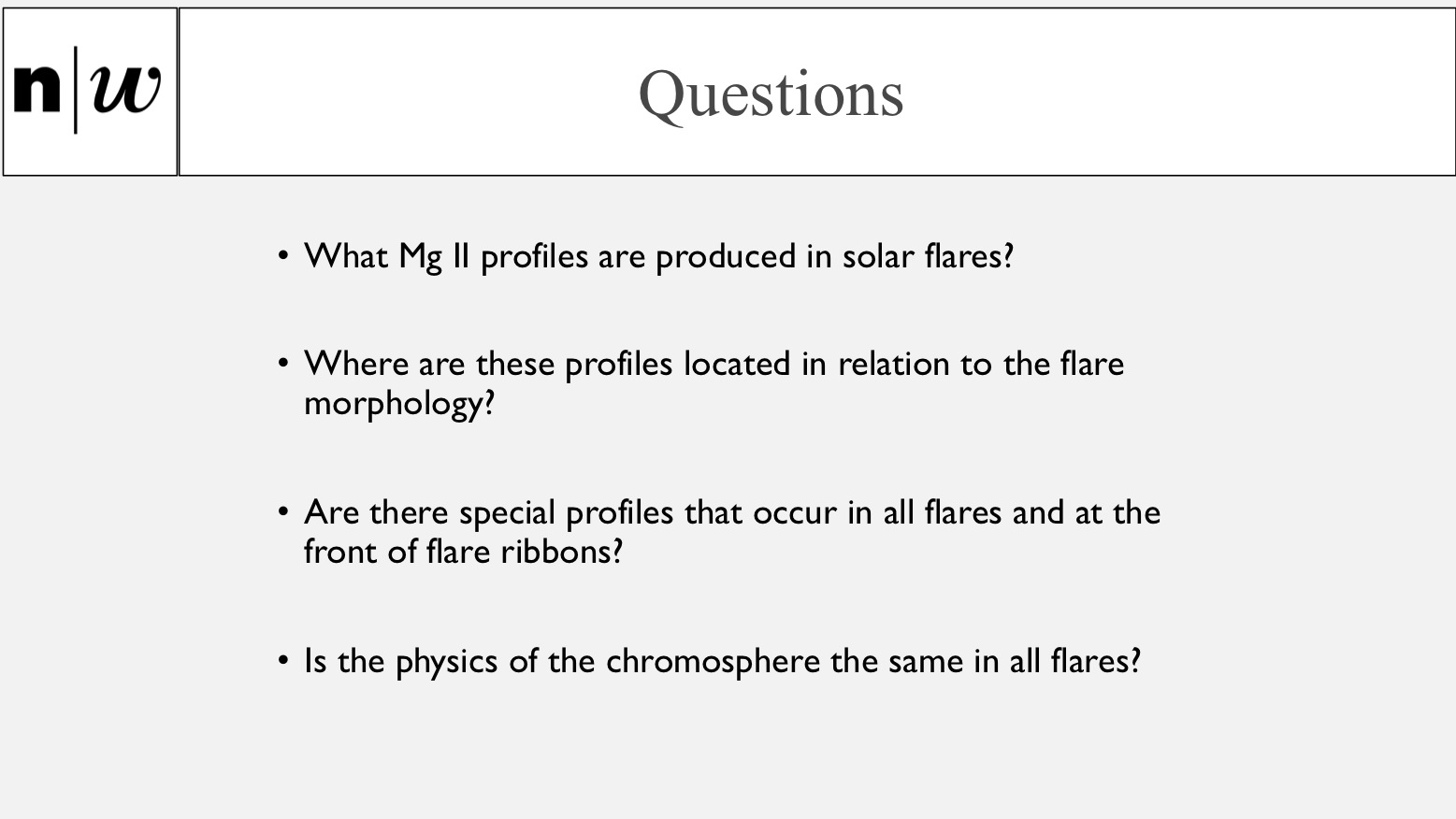 Questions related to Mg II profiles in solar flares