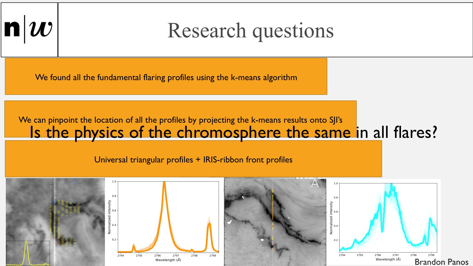 Research questions: Is the physics of the chromosphere the same in all flares?